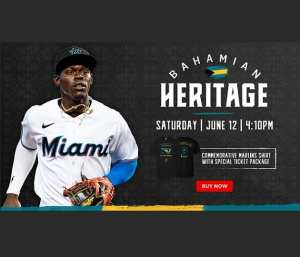 Bahamian heritage will be celebrated at Miami Marlins game on June 12, 2021