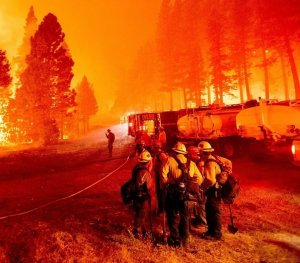 Entire California city evacuated amid burning resorts and fire tornadoes