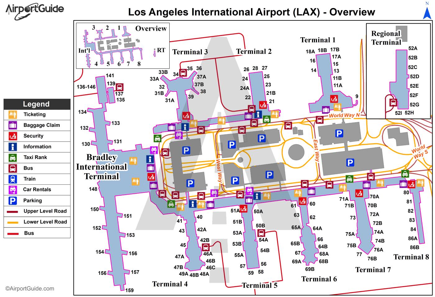 Lax Airport Terminal Map Afp Cv