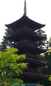 Sado island five tier temple