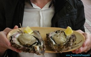 Huge Oysters at Niigata Seafood Markets in Japan