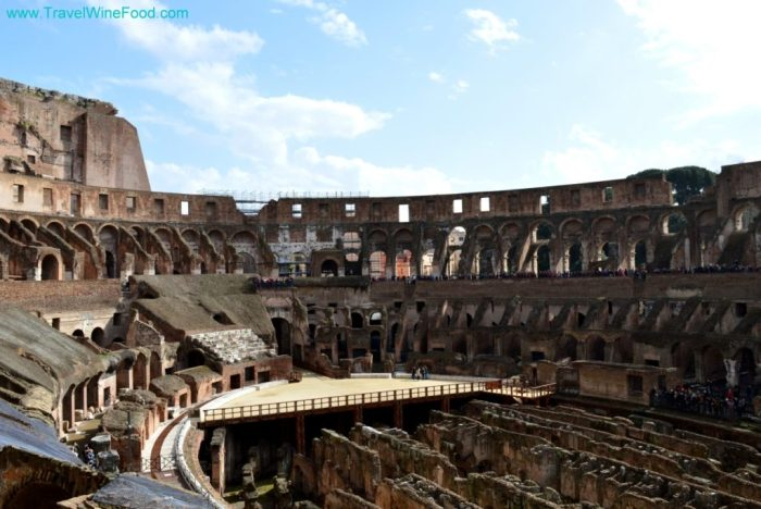 Inside the Colosseum in Rome, Italy, Europe