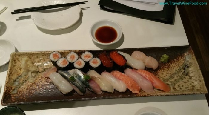 Sushi plate from sushi studio