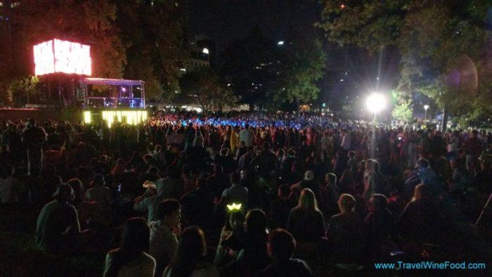 Melbourne Fireworks Flagstaff Gardens 2017