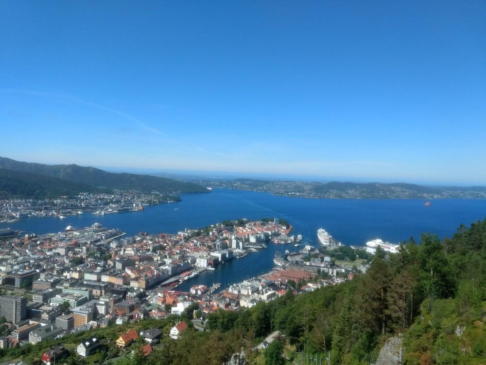 Bergen from Mount Floyen, Norway, Scandinavia