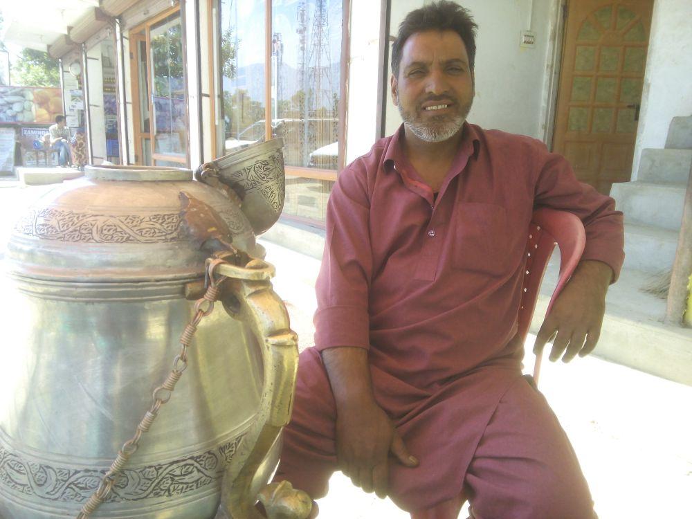 Kehwa of Kashmir, a green tea preparation.Srinagar, Kashmir, India
