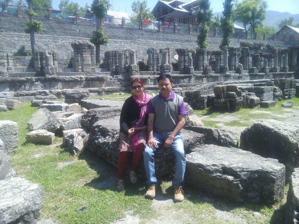 Avantiswami Temple in Avatipora, Kashmir, India