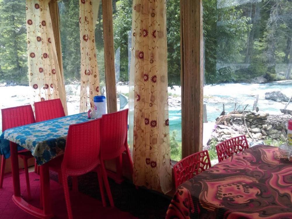 Restaurant in Riverfront Guest House, Pahalgam, Kashmir, India