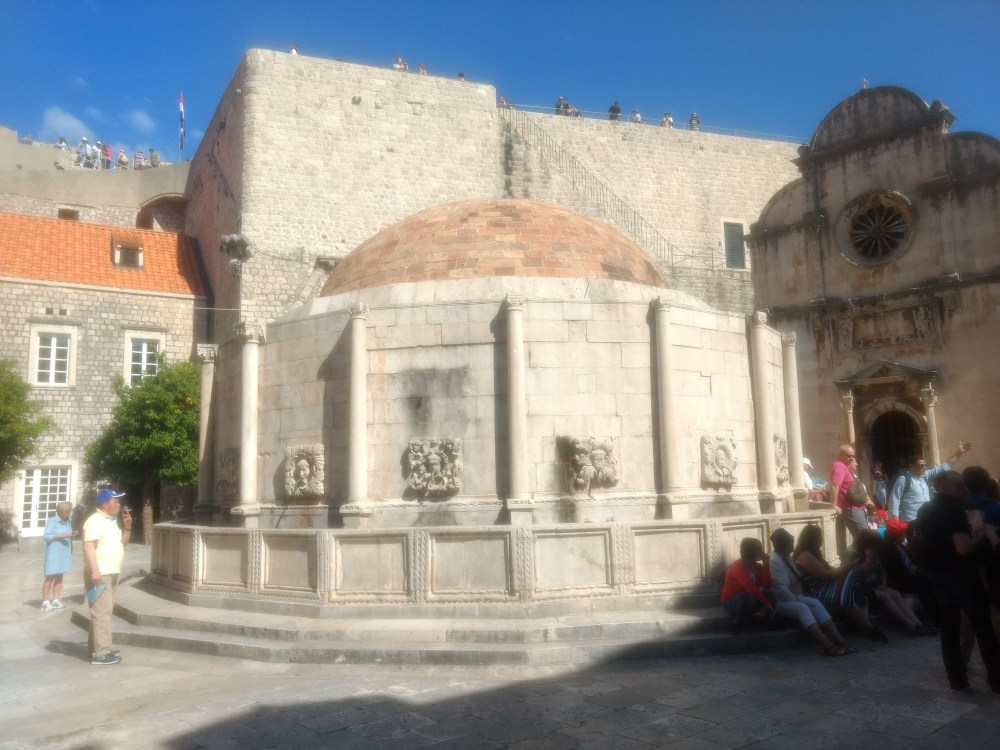 The Big Onofrio's Fountain at the entrance of Old Town , Dubrovnik, Croatia