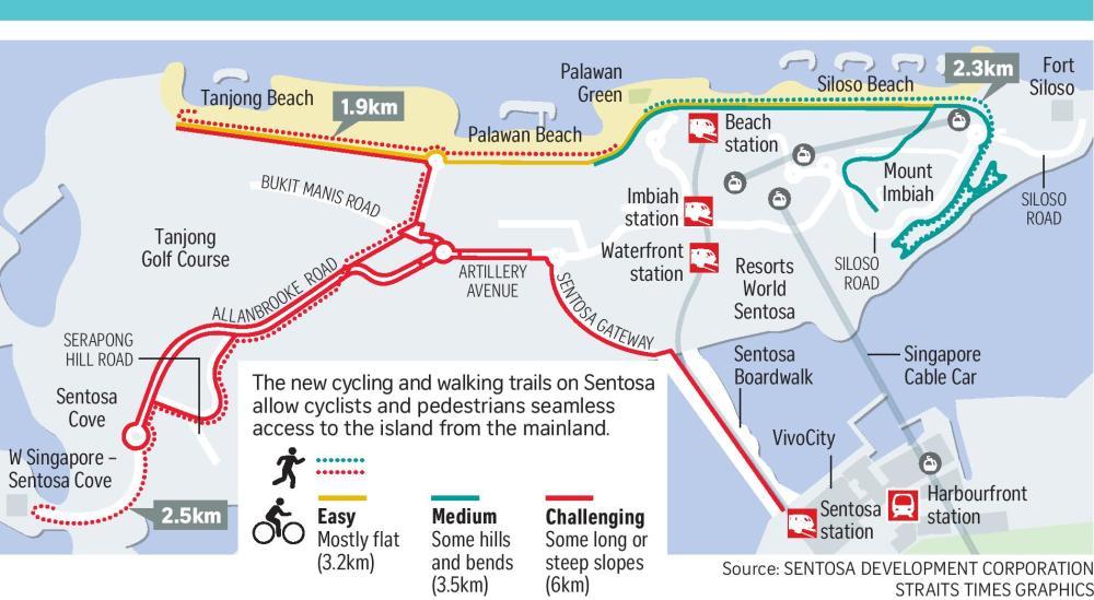Sentosa Map, Resorts World Sentosa, Sentosa Island, Singapore