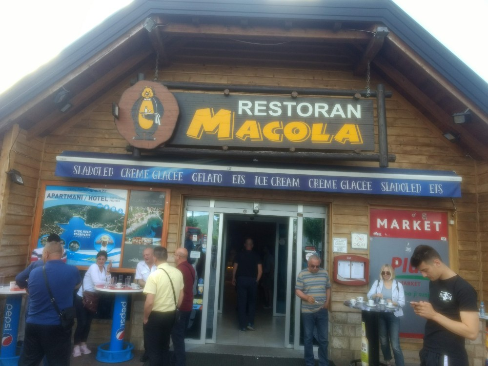 Restoran Makola between Zagreb and Split, Croatia