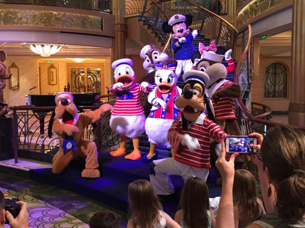 18 Top Secret Disney Fantasy Tips and Tactics  featured by top US family travel blog, Travel with a Plan: image of Disney Cruise-Farewell party