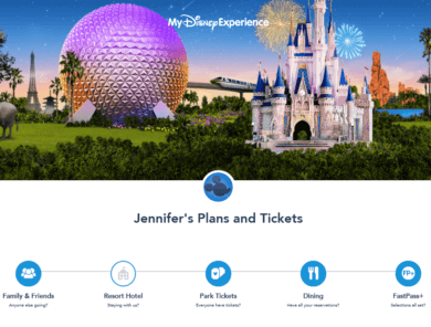 Disney Fastpass Secrets featured by top US family travel blog, Travel With a Plan | Screenshot of My Disney Experience for How to Book Disney 30-day FastPasses+