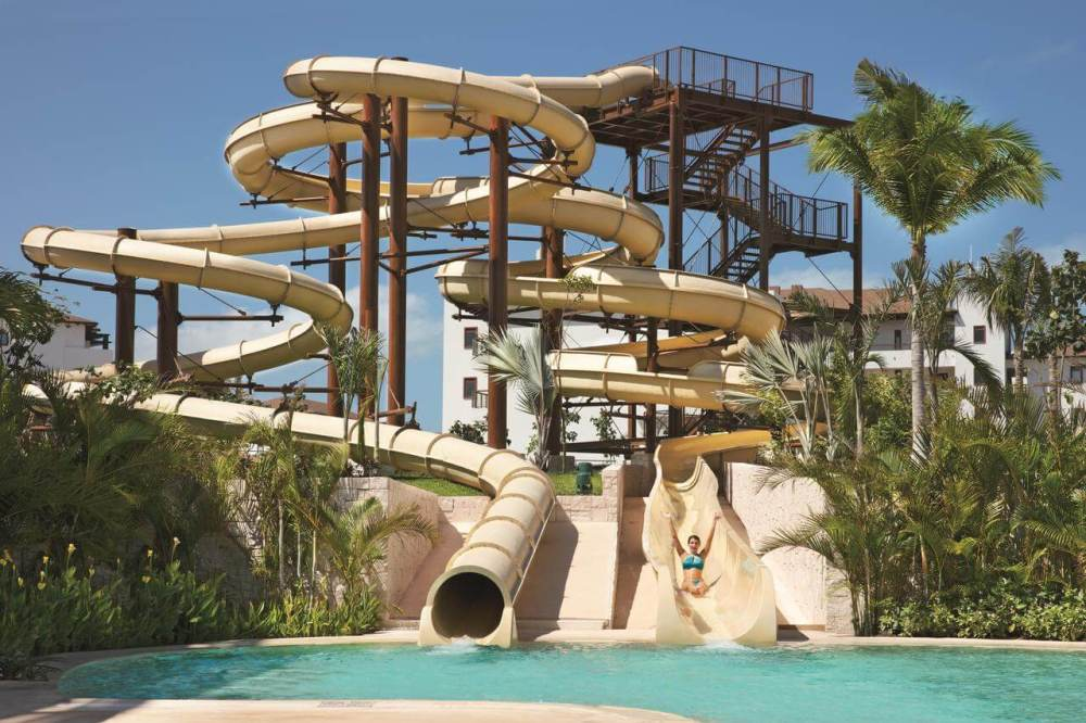 Top U.S. Travel Blog, Travel With A Plan | Dreams Playa Mujeres review with photo of waterslides