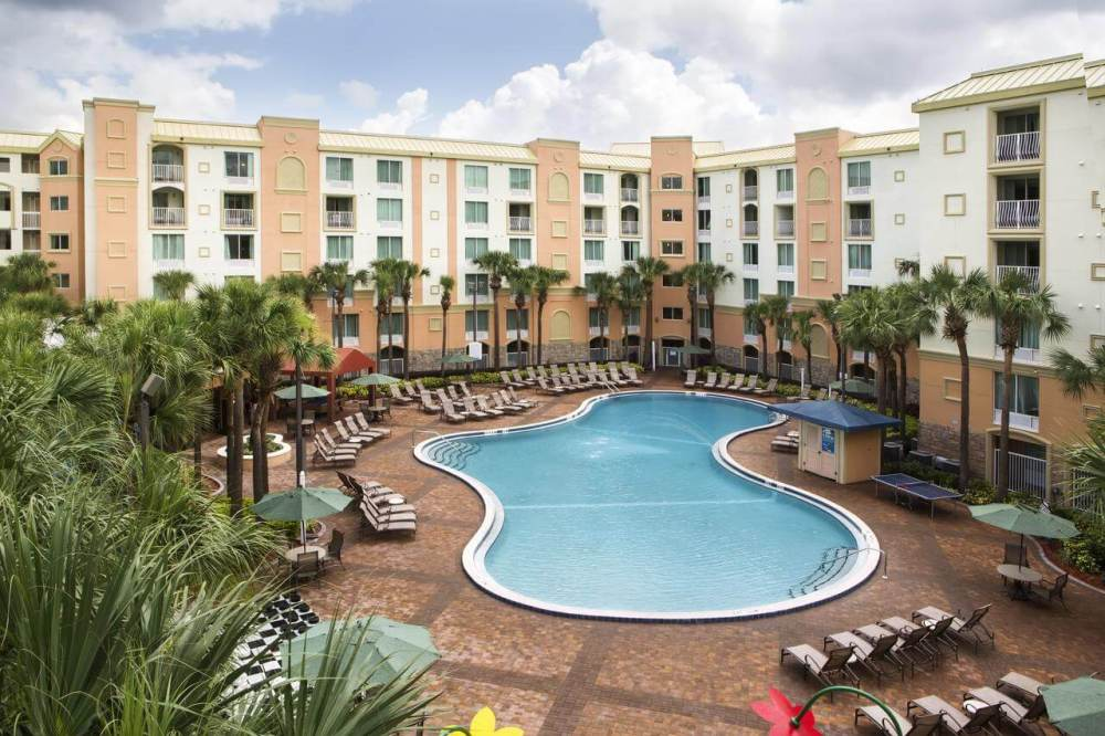 Holiday Inn pool on a Disney non-park day
