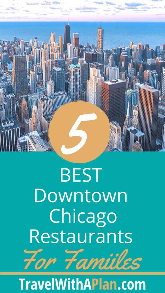 Click here to discover the Top 5 kid-friendly restaurants in downtown Chicago as found by Top U.S. family travel blog, Travel With A Plan! #kidsfriendlyrestaurantsnearnavypier #kidfriendlyrestaurantchicago #kidfriendlyrestaurantsdowntownchicago #kidsfriendlyrestaurantschicago #bestkidfriendlyrestaurantschicago #kidfriendlyrestaurantsdowntown #wheretoeatinchicago #wheretoeatinchicagowithkids