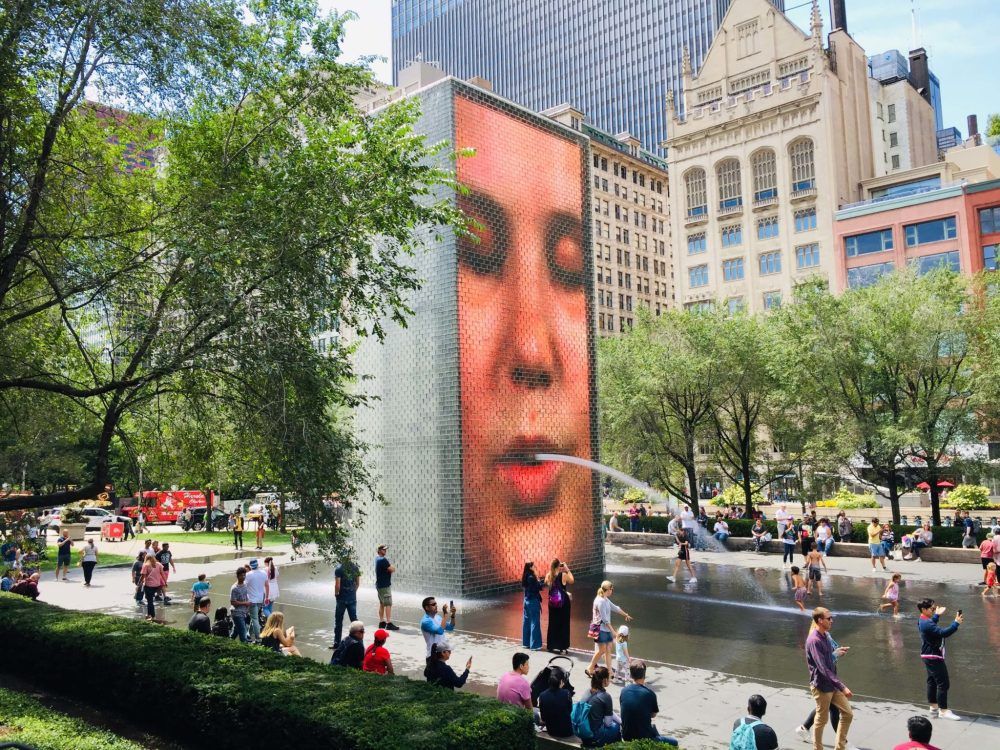 Chicago 3 day itinerary featured by top US family travel blog, Travel with a Plan: image of Crown Fountain