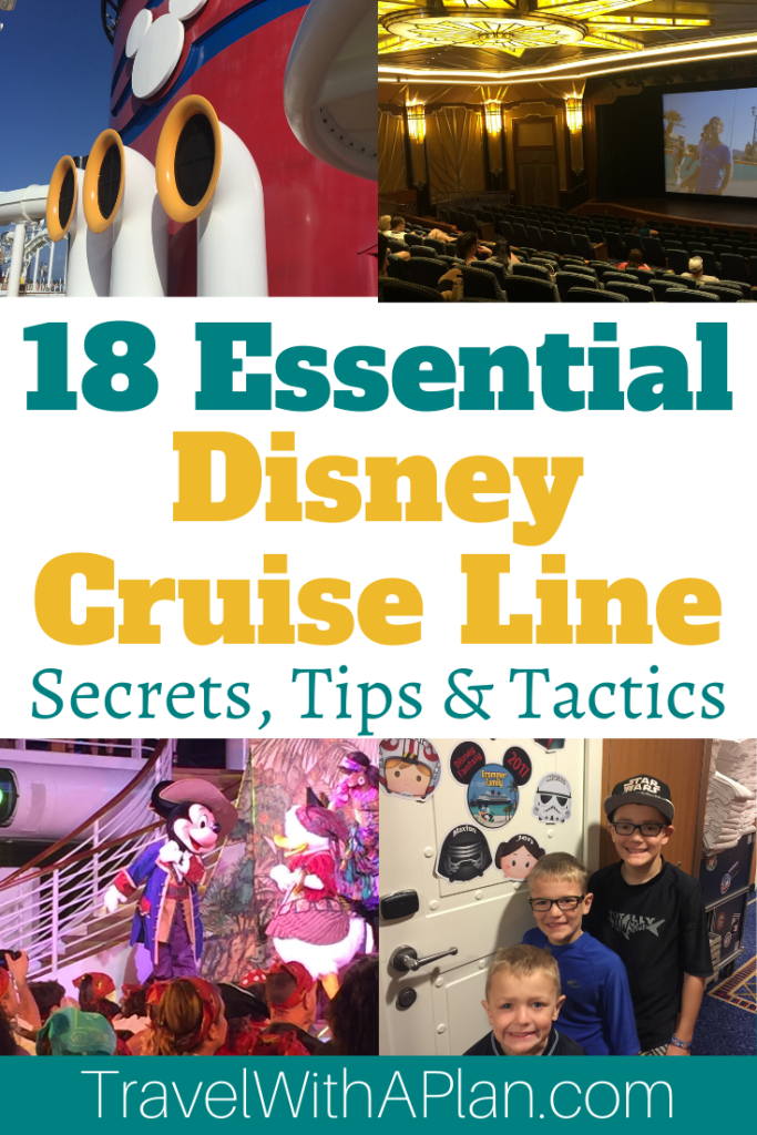 Discover the best Disney Cruise line secrets, tips, and tactics! Top U.S. family travel blog, Travel With a Plan, shares everything you need to know about taking a family vacation on a Disney Cruise! Hop aboard the Disney Fantasy, Magic, Wonder, or Dream and have the best family vacation! #DCL #DisneyCruise #DisneyCruiseLine #Disneycruisetips #DisneycruiseFantasytips #cruisetraveltips #Disneycruiseplanning #disneysecrettips #familycruiselines #familytravel #travelwithaplan #Disneycruiselinetips
