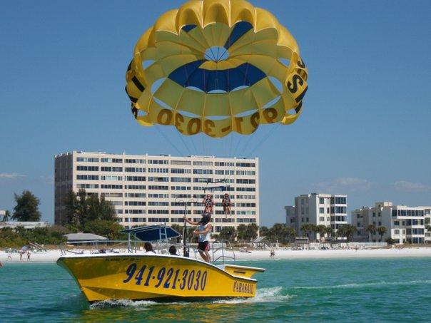 Parasailing in Siesta Key, Florida