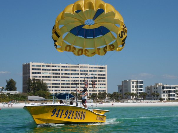 Parasailing in Siesta Key, Florida