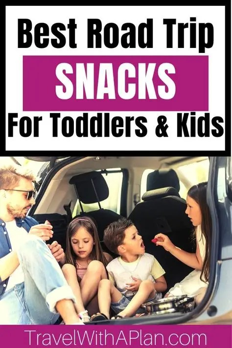 Road tripping is one of our favorite family vacations! Get our awesome road trip food list that includes ideas for meals and snacks on-the-go and a printable checklist to take to the grocery store! #roadtripfoodlist #bestroadtripfoods #roadtripsnackideas #toddlerroadtripsnacks #healthyroadtripsnacks #roadtripfoodideas