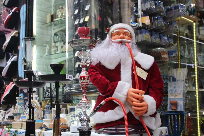 Naughty Santa Claus Athens Greece