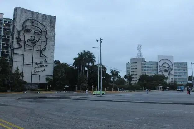 Che Guevara and Camilo Cienfuegos watching over Havana in Revolution Square
