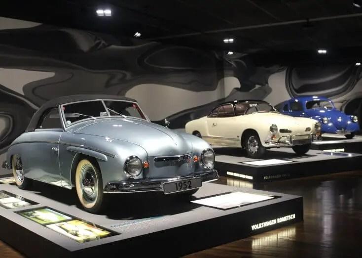 Vintage cars at Autostadt, Wolfsburg, Germany, Hanovra