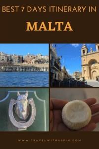 Itinerary 7 days Malta
