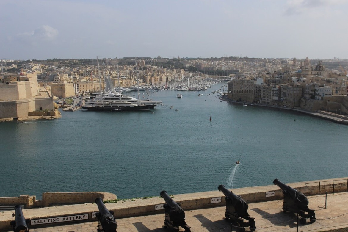 View over the Three cities from Valletta