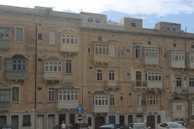 traditional balconies in Malta