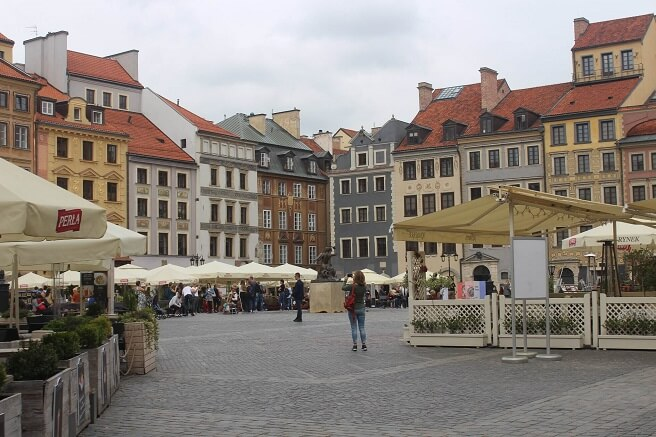 Warsaw old town - best cities to visit in Poland
