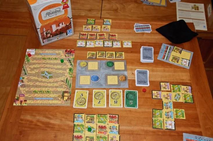 alhambra boardgame - couple activities
