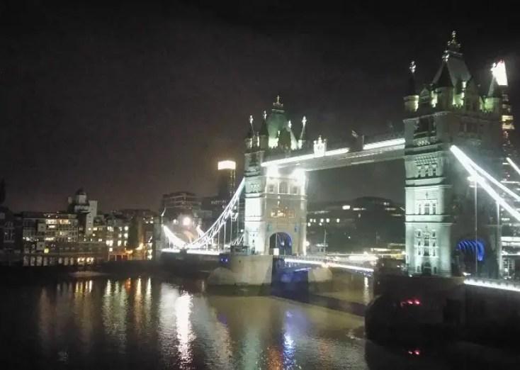 The Tower Bridge at night, London