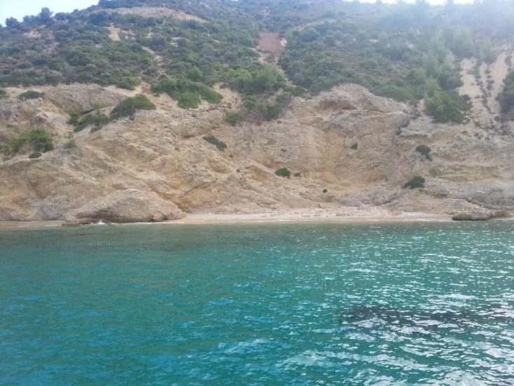 Plajă necunoscută, Plaje din Thassos