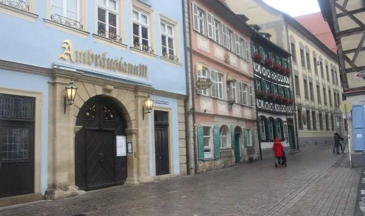 Dominikanerstrasse with Schlenkerla brewery, Germany