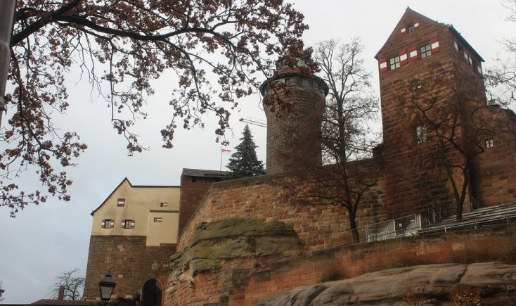 The castle of Nuremberg, Germany