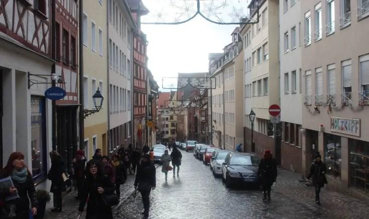 On the streets of Nuremberg, Germany