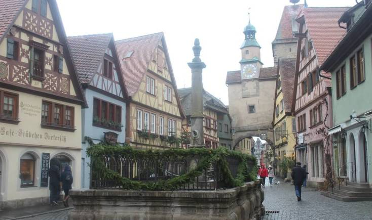Street in Rothenburg ob der Tauber