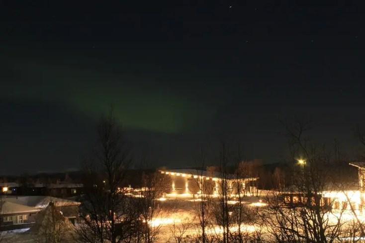Aurora boreală în Kiruna
