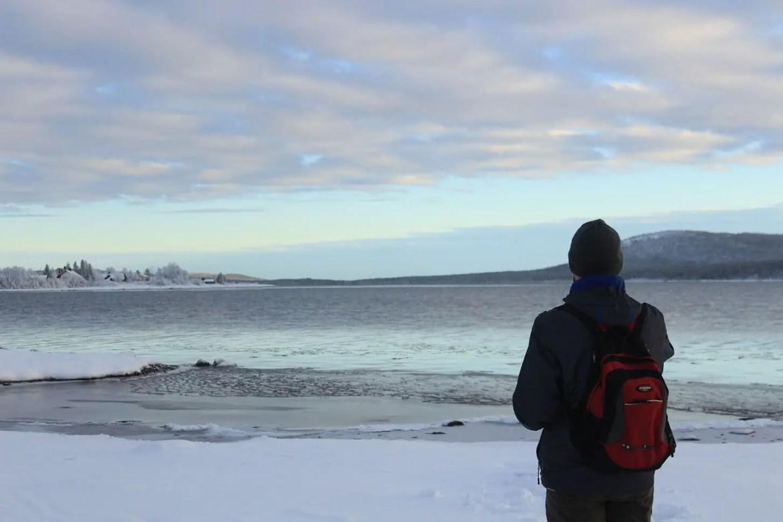Iarna in Kiruna, Laponia Suedeză