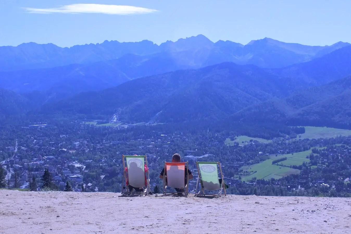Zakopane view of Tatras from Gulowbka
