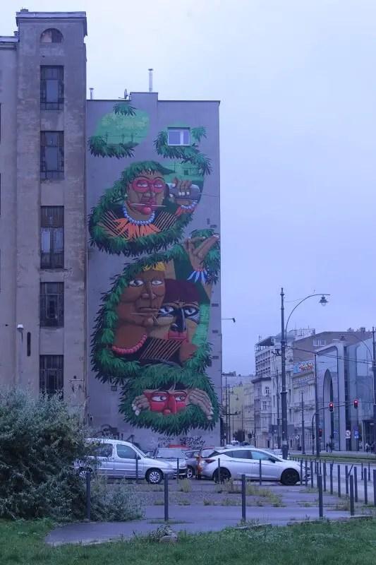 Nunca mural in Lodz