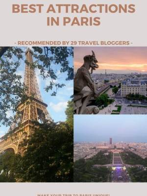 Best touristic attractions in Paris, France