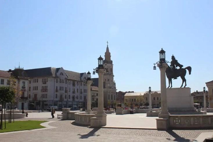 Piata Unirii cu Palatul Moskovits Adolf si fiii si Biserica cu Luna