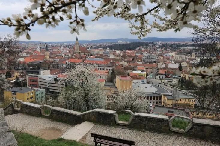 Panorama Cluj-Napoca de pe Cetatuie