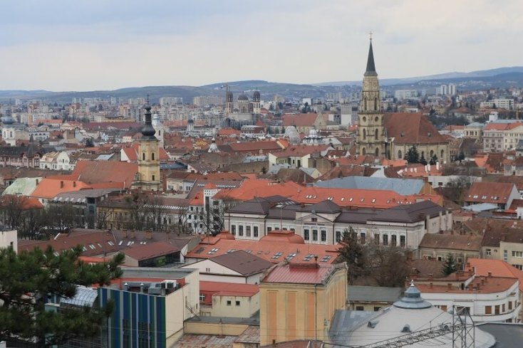 Panorama Cluj-Napoca de pe Dealul Cetatuia