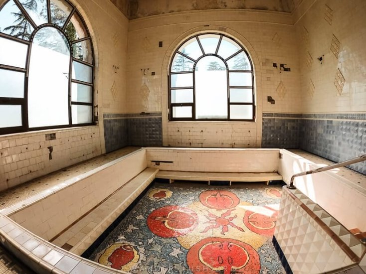 Stalin's Bath, Tskaltubo, Georgia, red tourism and communism around the world