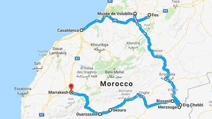 Morocco Tour Route (2)