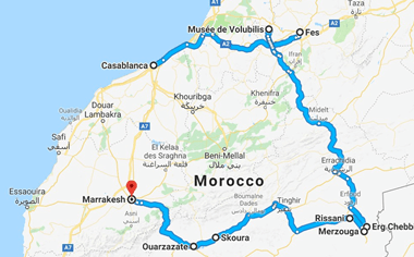 Morocco Tour Route (2)